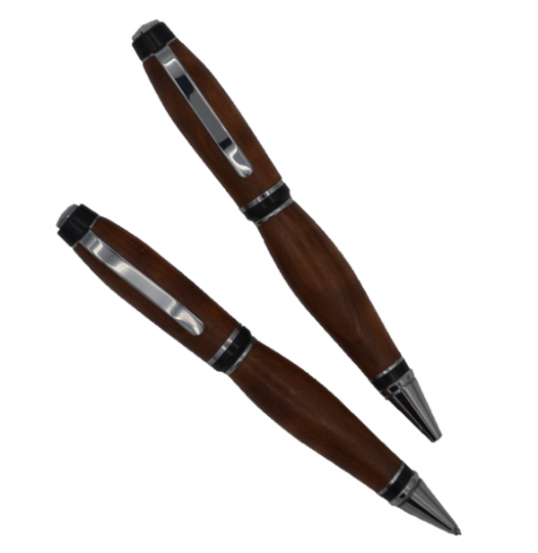 Budget Cigar pen & pencil set chrome Redwood