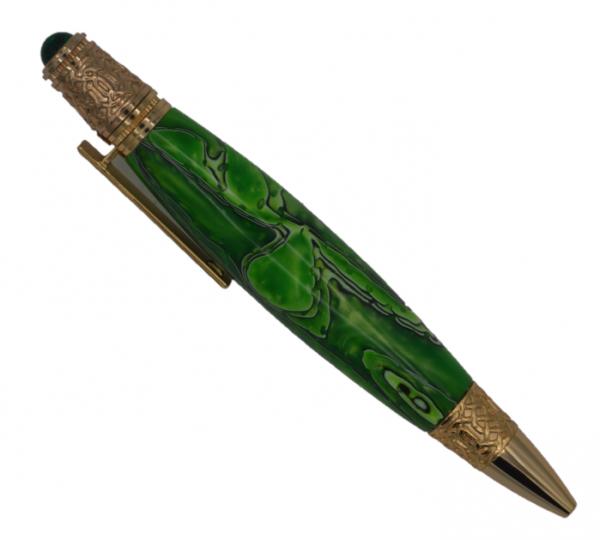 Celtic Gold pen Atomic Green